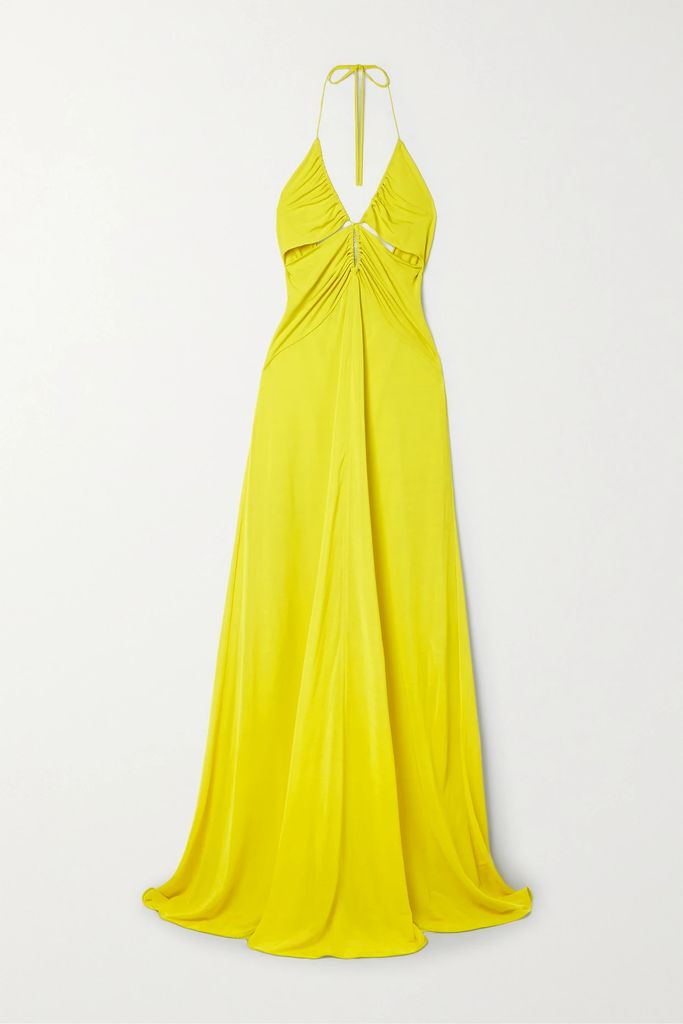 Carolina Herrera - Tiger-jacquard Coat - Brown
