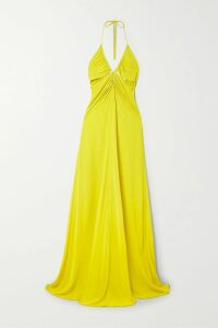 Carolina Herrera - Tiger-print Brocade Coat - Brown