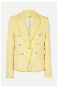 Veronica Beard - Dickey Double-breasted Checked Bouclé-tweed Blazer - Yellow