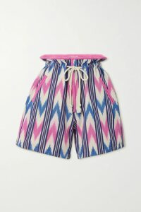 Frankie Shop - Yoyo Asymmetric Pleated Tencel And Cashmere-blend Wrap Skirt - Beige