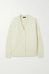 SAINT LAURENT - Striped Loopback Cotton-jersey Sweatshirt - Ivory