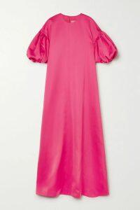 Nili Lotan - Leopard-print Silk-satin Maxi Dress - Brown