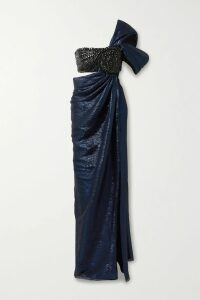 GANNI - Floral-print Crepe De Chine Wrap Midi Dress - Pastel yellow