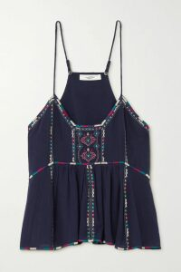 SAINT LAURENT - Striped Cable-knit Wool Sweater - Black