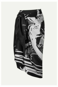 Balmain - Printed Silk-satin Pareo - Black