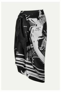 Balmain - Printed Silk-satin Pareo - Black
