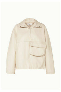 Frankie Shop - Xenia Faux-leather Top - Cream