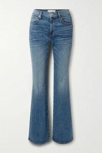 Isabel Marant Étoile - Goya Color-block Cotton-twill Mini Dress - Army green