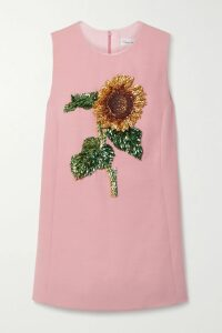 Erdem - Constantinea Cape-effect Tiered Floral-print Silk-voile Dress - Pink