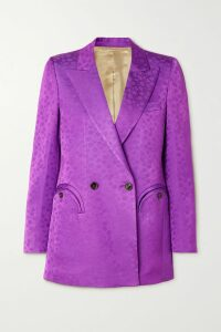 Haney - Joplin Gathered Metallic Silk-blend Mini Dress - Baby pink