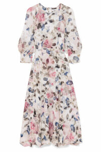 Erdem - Yusra Floral-print Silk-voile Midi Dress - White