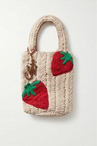 Oscar de la Renta - Asymmetric Pussy-bow Floral-print Silk-jacquard Top - Ecru