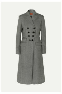 Altuzarra - Janine Prince Of Wales Checked Wool-blend Coat - Black