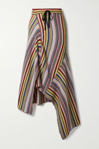 Balenciaga - Houndstooth Wool Skirt - Red
