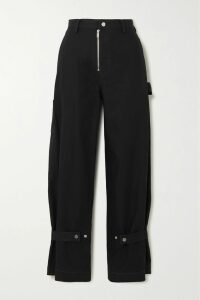 3.1 Phillip Lim - Belted Layered Cotton-jersey And Poplin Dress - Black