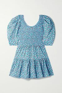 GANNI - Printed Crepe De Chine Midi Skirt - Pastel yellow