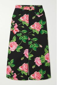 HVN - Morgan Printed Silk Crepe De Chine Dress - Pink