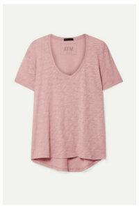 ATM Anthony Thomas Melillo - Boyfriend Slub Cotton-jersey T-shirt - Pink
