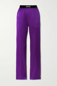 Balenciaga - Embroidered Cotton-jersey Hoodie - Midnight blue