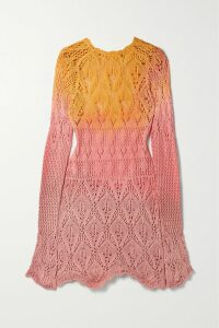 Balenciaga - Printed Cotton-jersey Hoodie - Yellow