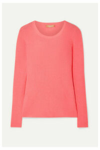 Michael Kors Collection - Ribbed Cashmere Sweater - Coral