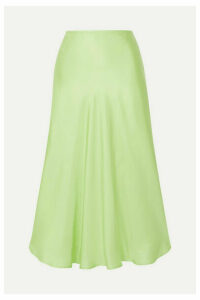 Maggie Marilyn - Where I Want To Be Silk-satin Midi Skirt - Lime green