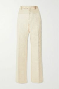 Monique Lhuillier - Wrap-effect Velvet-jacquard Gown - Black