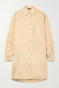 Michael Kors Collection - Floral-print Silk Crepe De Chine Dress - Black