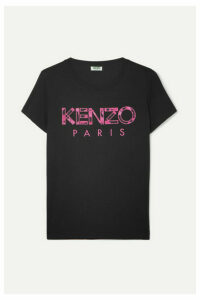 KENZO - Appliquéd Cotton-jersey T-shirt - Black