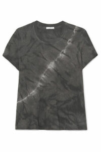 James Perse - Vintage Boy Tie-dyed Cotton-jersey T-shirt - Gray