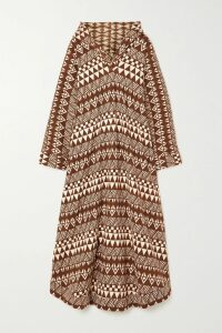 ARoss Girl x Soler - Brooke Belted Cotton-poplin Top - Green