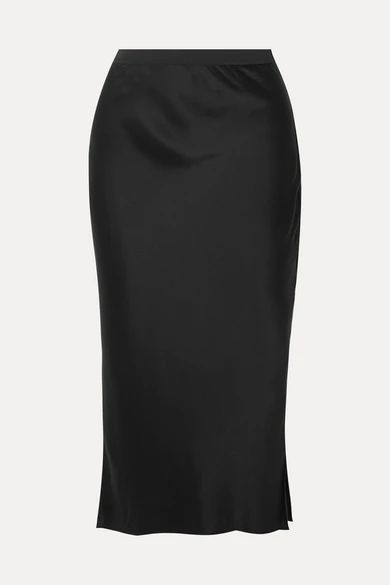 Cami NYC - The Jessica Silk-charmeuse Midi Skirt - Black