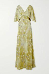Tory Burch - Ruffled Floral-print Cotton-poplin Wrap Dress - Navy