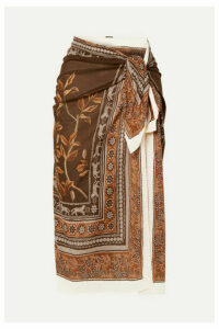 Johanna Ortiz - Welcome To The Jungle Printed Cotton-voile Pareo - Brown