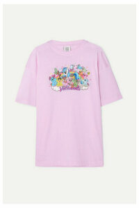 Vetements - Oversized Printed Cotton-jersey T-shirt - Pink