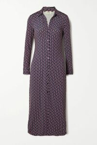 Dolce & Gabbana - Intarsia-trimmed Floral-print Crepe Track Jacket - Red