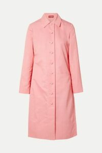 STAUD - Maura Shell Trench Coat - Pink