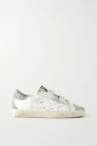 Saloni - Fara Crocheted Lace-trimmed Broderie Anglaise Cotton Midi Dress - White