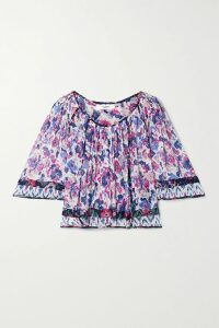 Art Dealer - Michelle Gathered Floral-print Satin Wrap Dress - Pink
