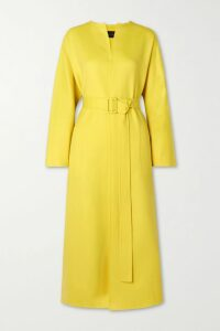 ARoss Girl x Soler - Alex Silk-satin Midi Skirt - Light blue