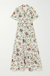 Honorine - Peri Tiered Crinkled Cotton-gauze Mini Dress - Yellow