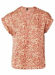 Womens *Izabel London Red Animal Print Blouse- Red, Red