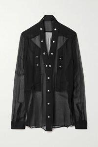 McQ Alexander McQueen - Floral-print Silk-georgette Midi Skirt - Orange