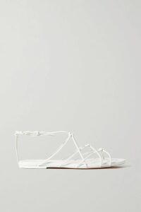 Rebecca Vallance - Francesca One-shoulder Bow-detailed Cloqué Gown - Coral