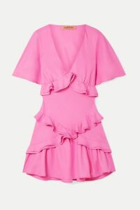 Maggie Marilyn - + Net Sustain The Jones Ruffled Recycled Crepe De Chine Mini Dress - Pink