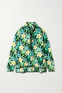 Vince - Floral-print Crinkled-crepe Midi Dress - Black