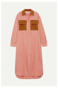Sonia Rykiel - Oversized Color-block Silk-satin Dress - Blush