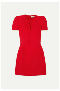 Alexander McQueen - Ruched Crepe Mini Dress - Red