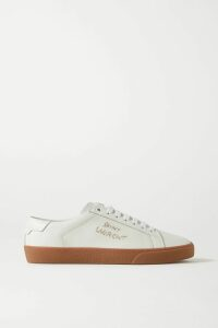 McQ Alexander McQueen - Paneled Floral-print Georgette Shirt Dress - Black