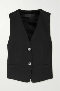 Burberry - Double-breasted Leather Trench Coat - Black
